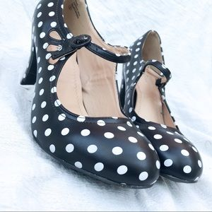 J. Adams polka dot heels